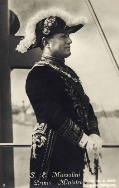 Benito Mussolini - in ornate uniform. Italian dictator and leader of the Fascist movement 1883 - 1945. Totalitarianism