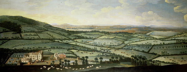 CHE18102 Country around Dixton Manor, c.1715 (oil on canvas) (see details on CHE 68500 - 68507) by English School, (18th century); 106