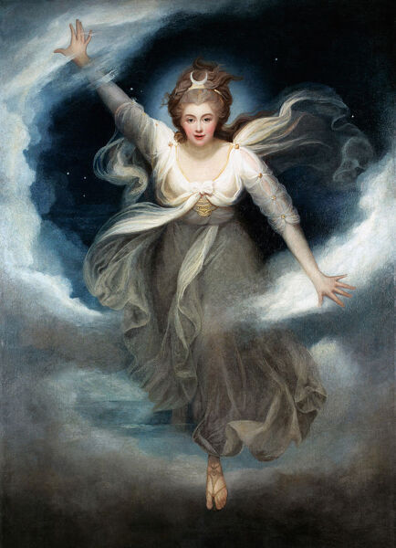 CTS336332 Georgiana as Cynthia from Spenser's 'Faerie Queene', 1781-82 (oil on canvas) by Cosway, Maria Hadfield (1759-1838); 219