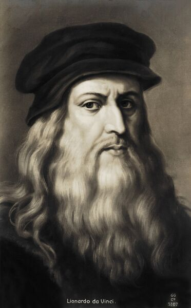 Leonardo da Vinci - self portrait of the Italian Renaissance painter