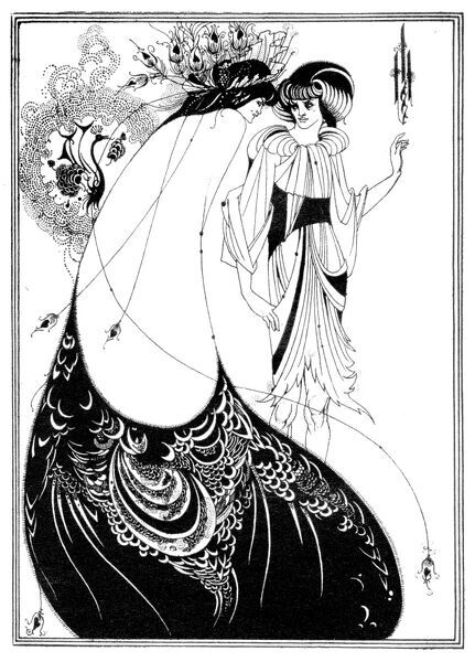 ' The Peacock Skirt ' - Aubrey Beardsley 's illustration for ' Salome ' by Oscar Wilde first performed in England on 10 May 1905. Richard Strauss 's opera based on this this book premiered 9 December 1905 Dresden