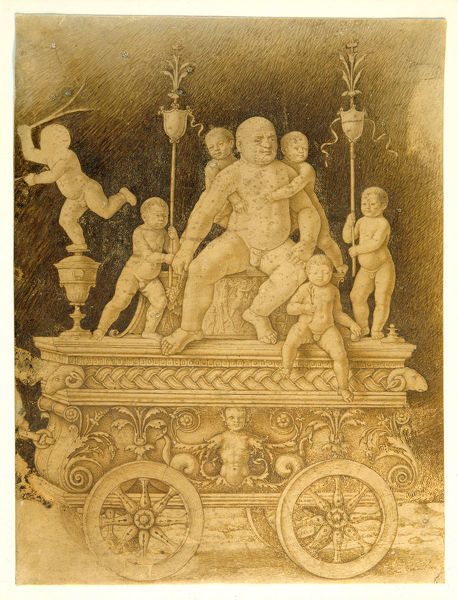 5059183 The Triumph of Silenus, early 16th century (pen & ink on vellum) by Mantegna, Andrea (1431-1506) (follower of); 24.6x18.5 cm; Collection of the Duke of Devonshire, Chatsworth House, UK; © Devonshire Collection, Chatsworth; Italian