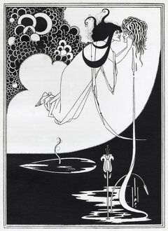 The Climax - Aubrey Beardsley's illustration for 'Salome' by Oscar Wilde