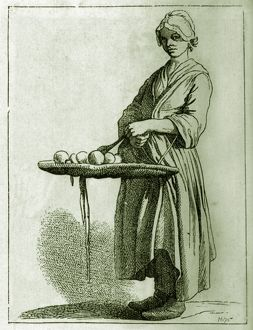 french history/daily life french history fruit seller 18th century