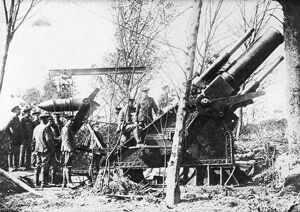 A large British howitzer