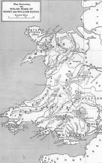 Map of Welsh Wars of William Rufus and Henry I