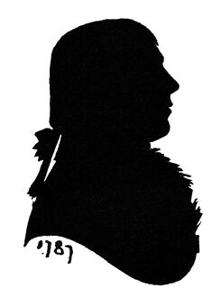 Robert Burns silhouette by